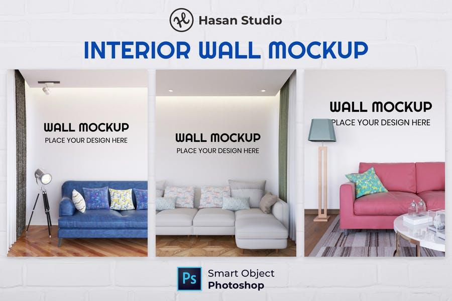 Interior Wall Mockup PSD