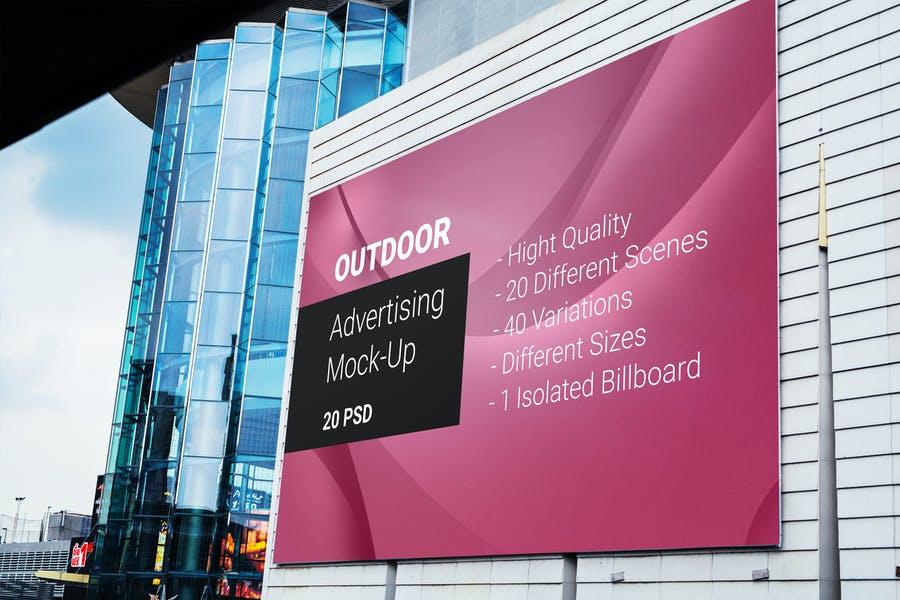 Isolated Billboard Mockup PSD
