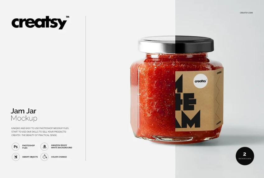 Jam Jar Branding Mockup PSD