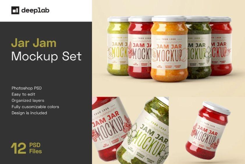 Jam Jar Labels Mockup