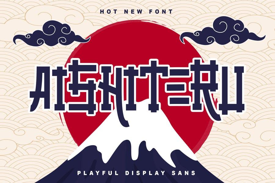 Japanese Style Logotype Fonts