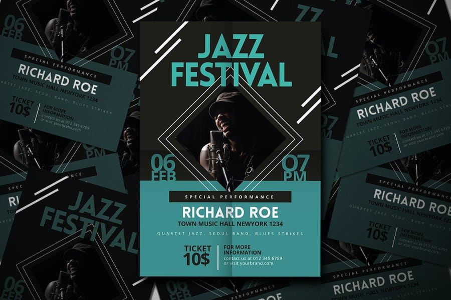 Jazz Festival Flyer Design