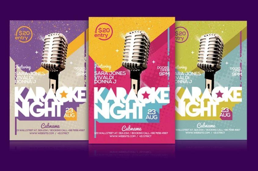 Karaoke Party Night Flyer