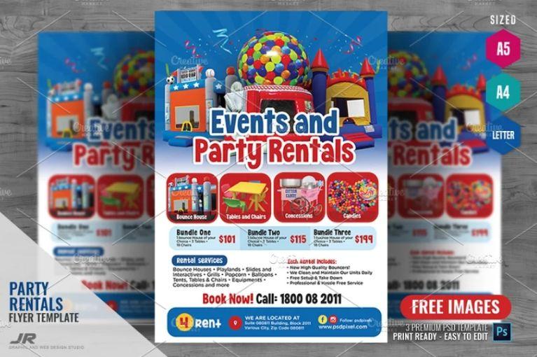 Kids Party Rental Flyers