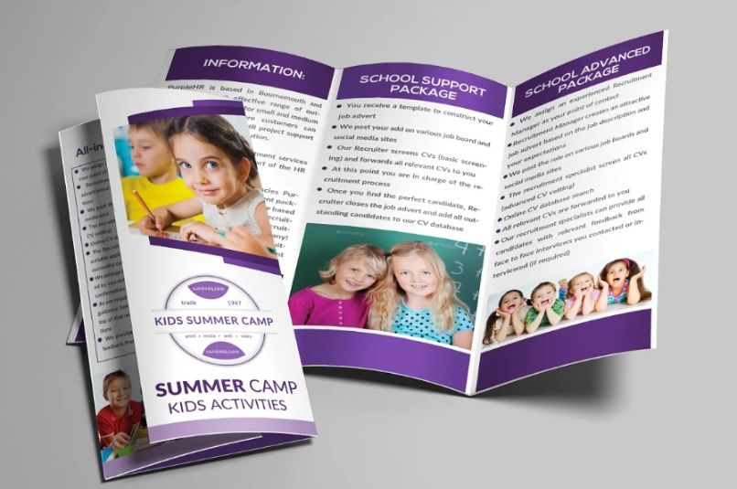 Kids School Promotional Brochure Template