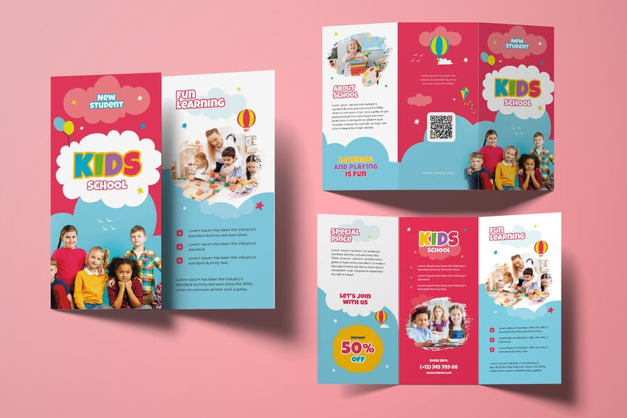 Kids School Tri Fold Brochures