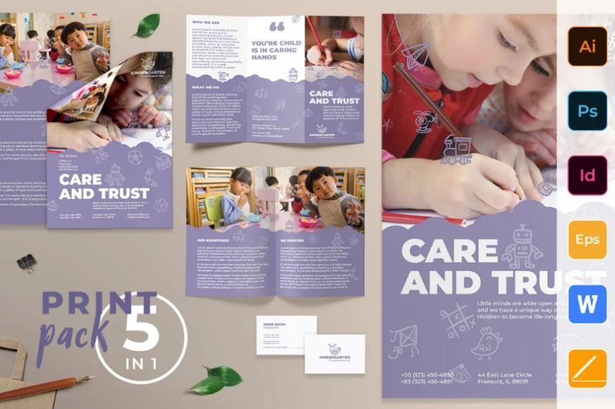Kindergarten Promotional template Pack