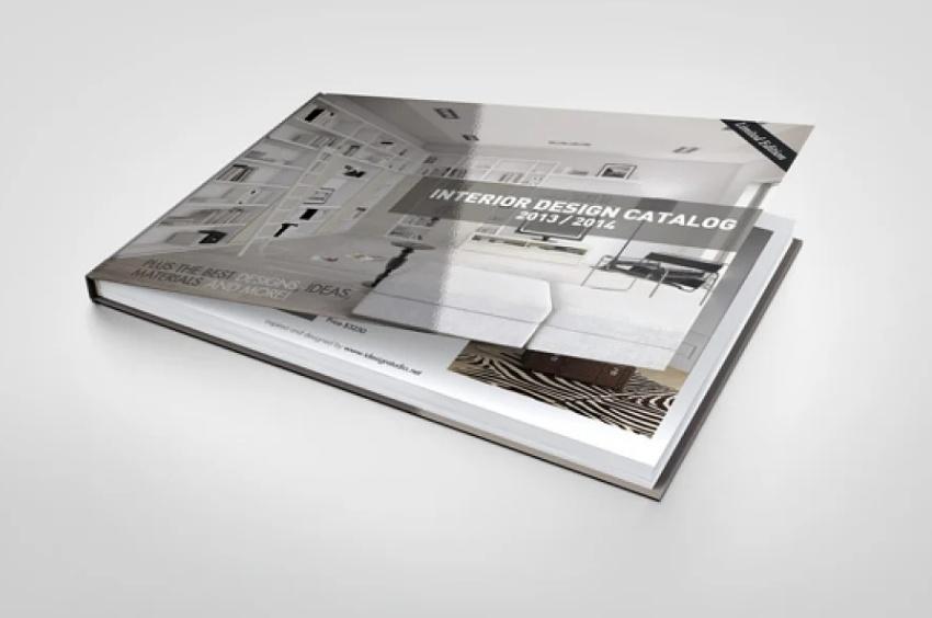 Landscape Book Cover Mockup PSD