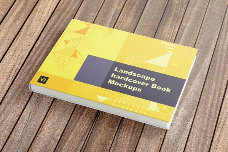 Landscape Hardcover Book Mockups
