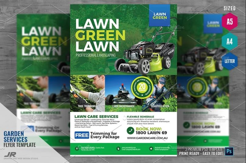 Landscaping Advertising Flyer Designs