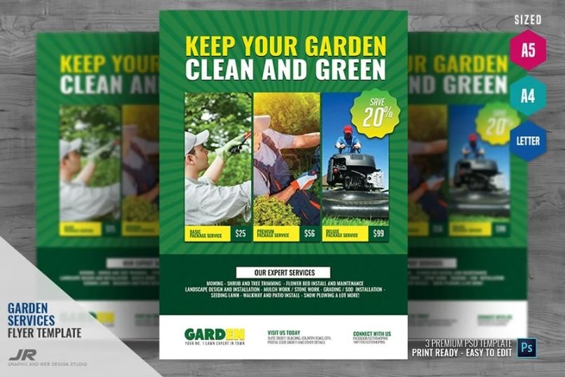 Landscaping Marketing Flyer Template