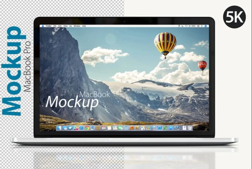 Laptop Front view Mockups