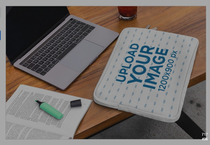 Laptop Sleeve on Desk Mockup
