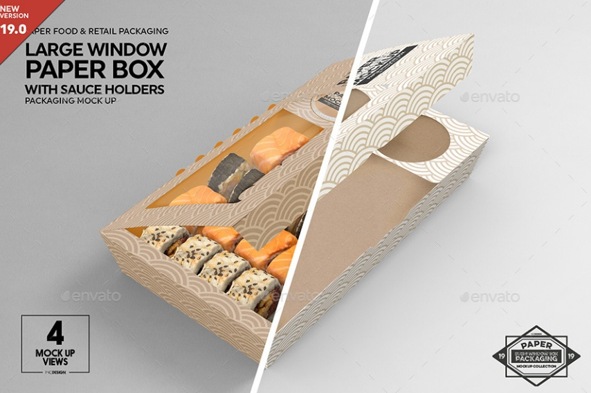 Large Paper Box Mockup