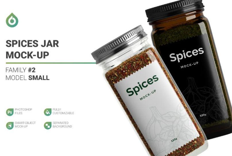 Large Spices Jar Branding Mockups