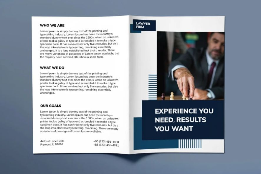 Law Firm Bi Fold Brochure Templates