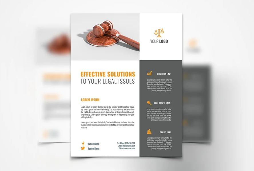 Law Services Brochure Template