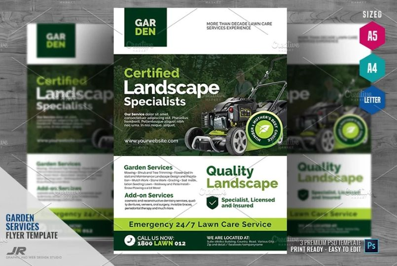 Lawn Moving Flyer Template