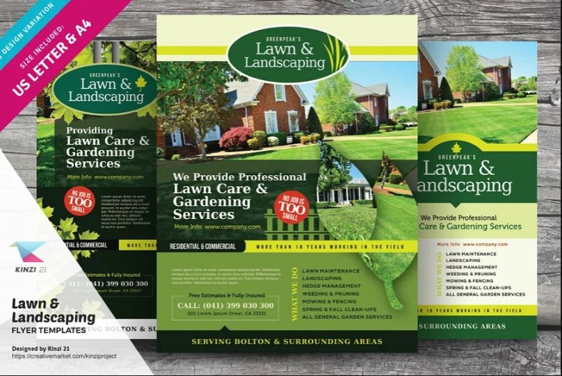 Lawn and Landscaping Flyer Templates