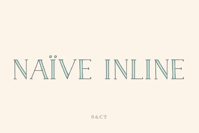 Layered Handwritten Inline Fonts