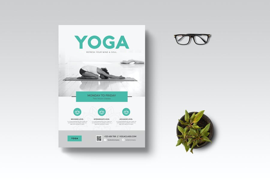 Layered Yoga Promotional Poster