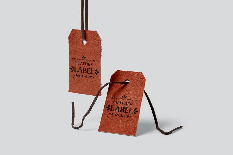 Leather Hanging Tag Mockups