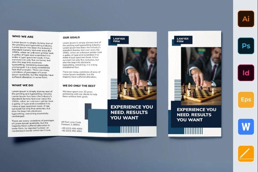 Legal Tri Fold Brochure Designs