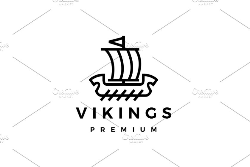 Lined Viking Logo Template