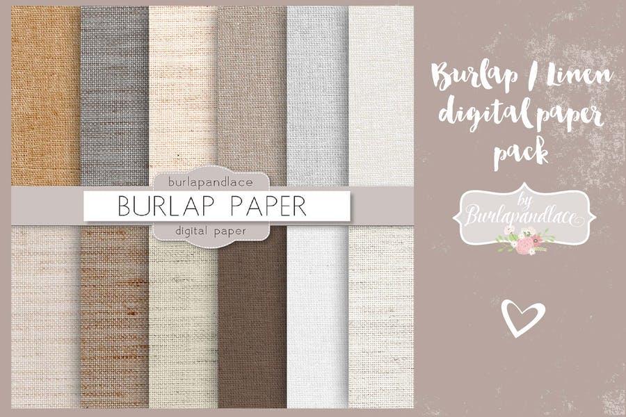 Linen Digital Paper texture