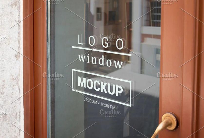 Logo on Door Mockup PSD