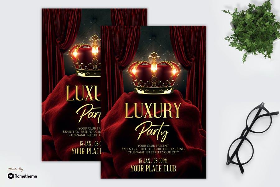 Luxury Party Flyer Design
