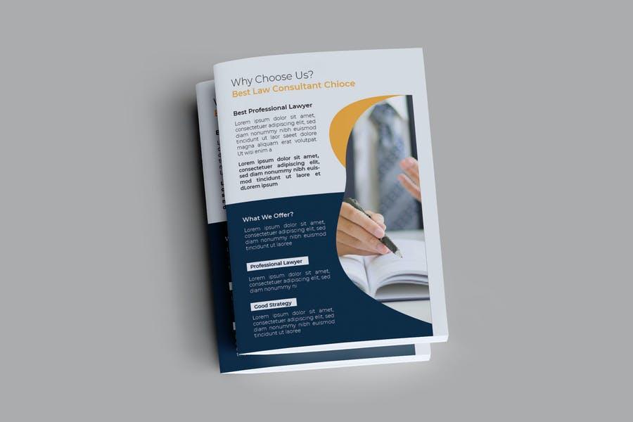 Law Consultant Brochure Templates