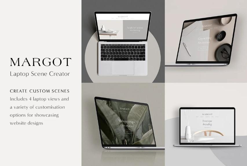 MacBook Mockup Scene Generator