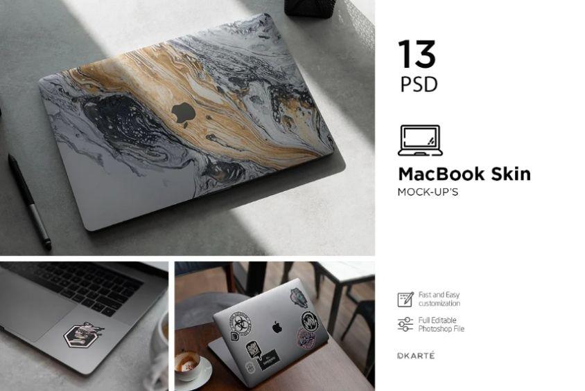 MacBook Skin PSD Mockup