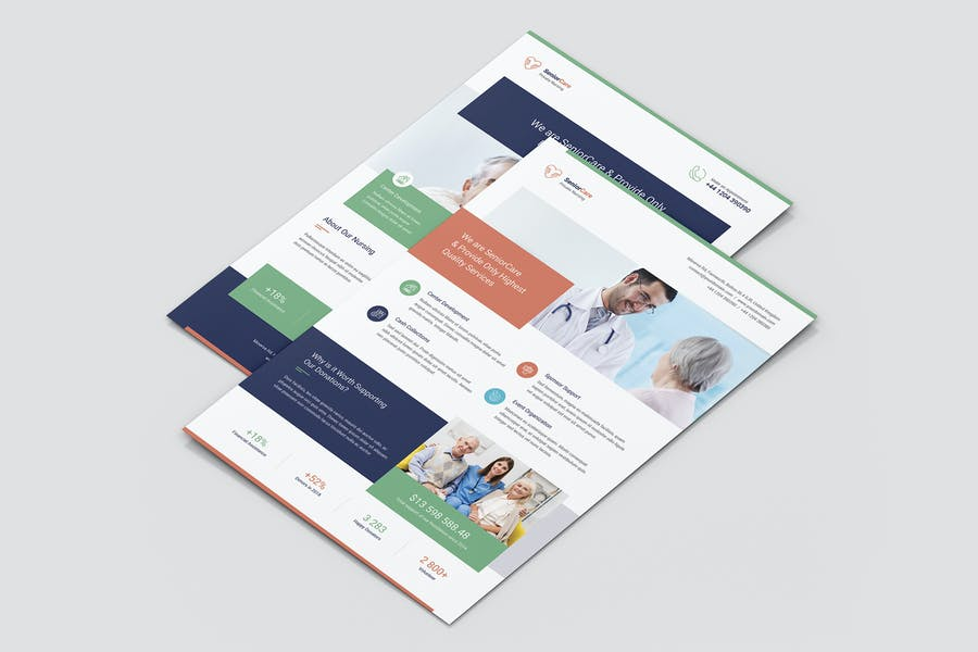 Medical Care Flyer Template