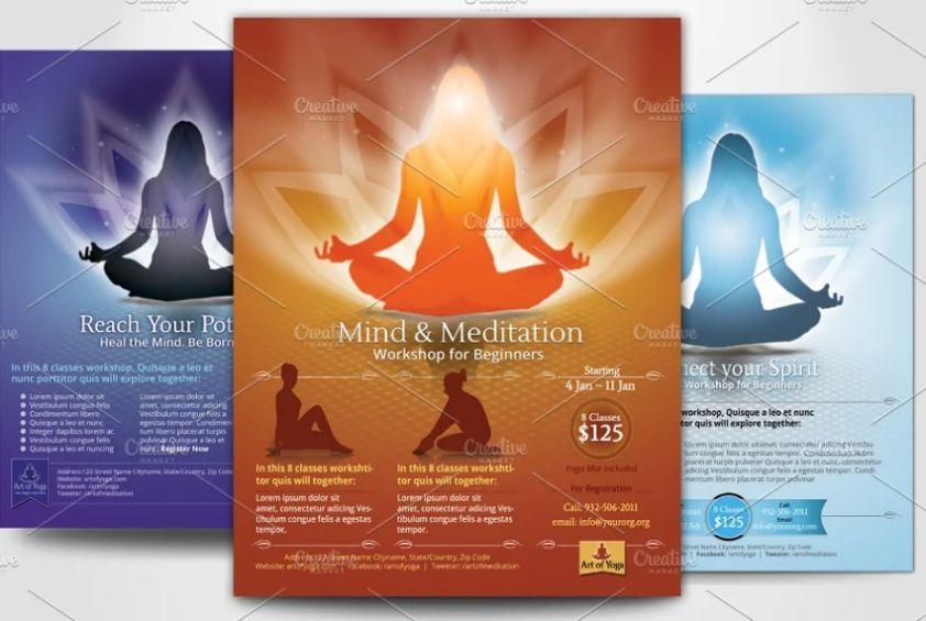 Meditation Flyer Templates