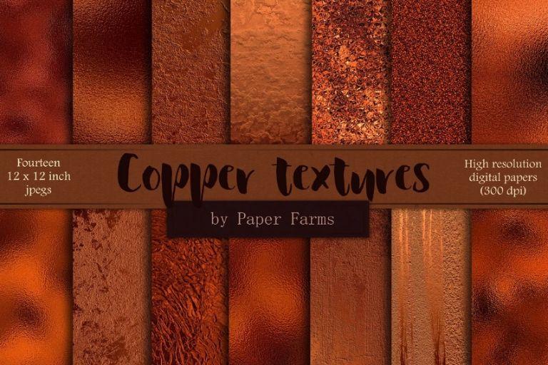 Metallic Copper Foil Textures