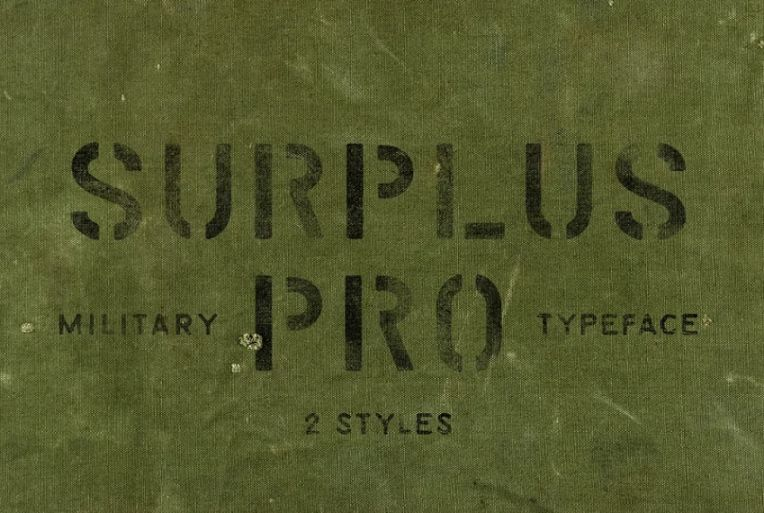 Military Stencil Fonts