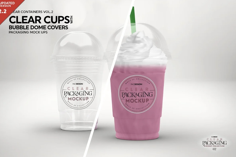 Milkshake Cup Mockups