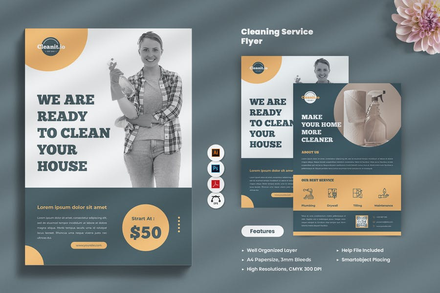 Minimal Cleaning Services Flyer
