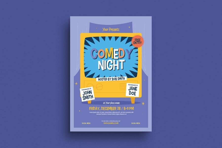 Minimal Comedy Night Poster