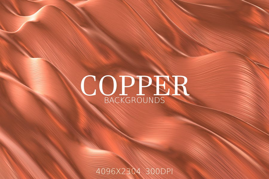 Minimal Copper Backgrounds