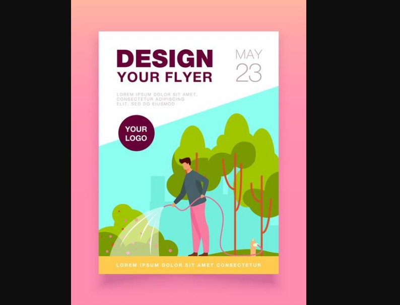 Minimal Gardening Flyer Design