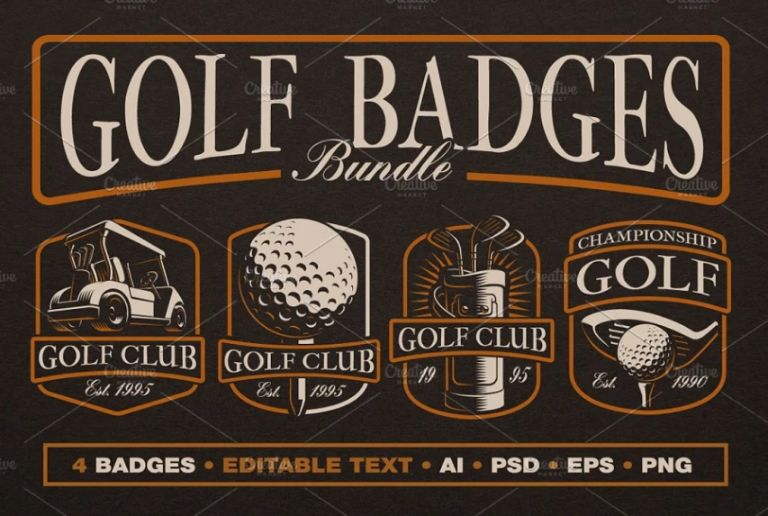 Minimal Golf Badges Bundle