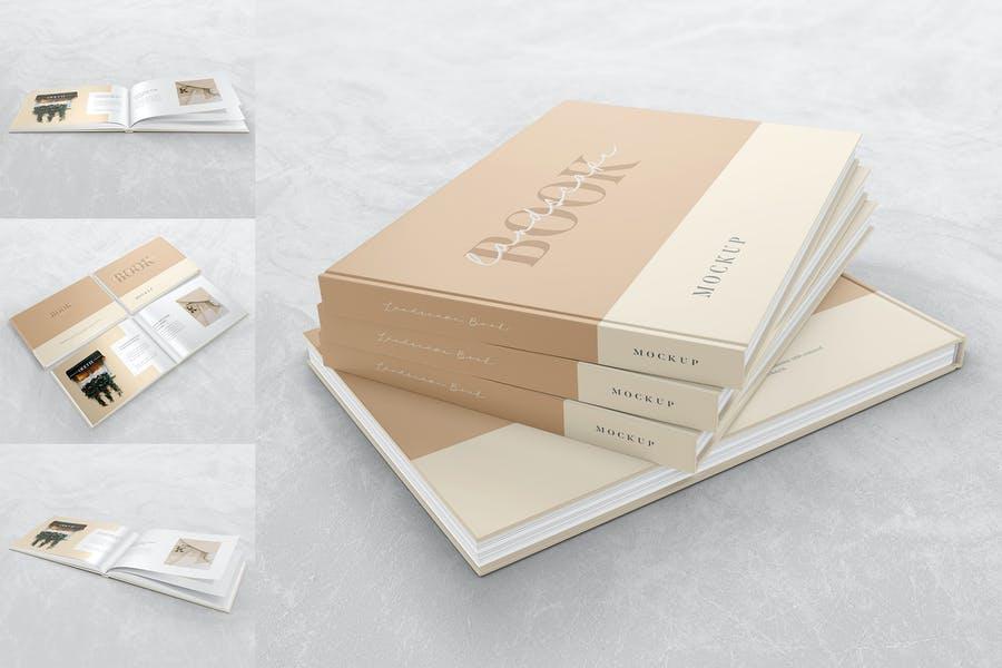 Minimal Landscape Book Mockups