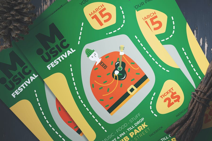 Minimal Music Festival Flyer