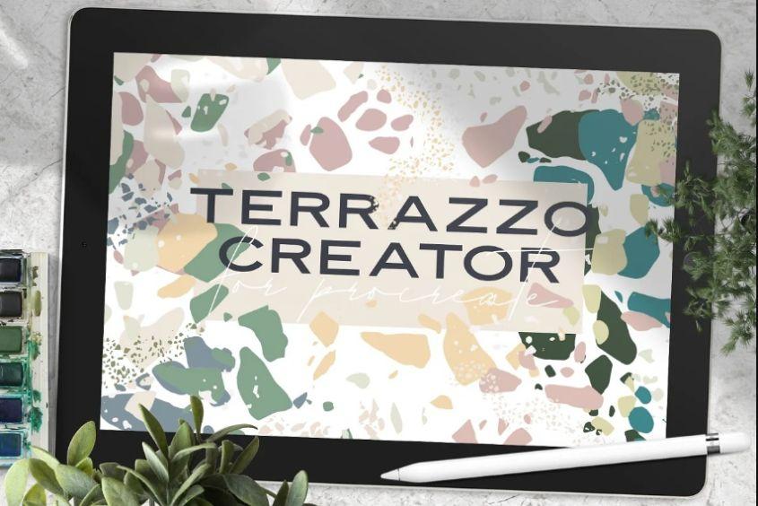 Minimal Terrazzo Brush Textures