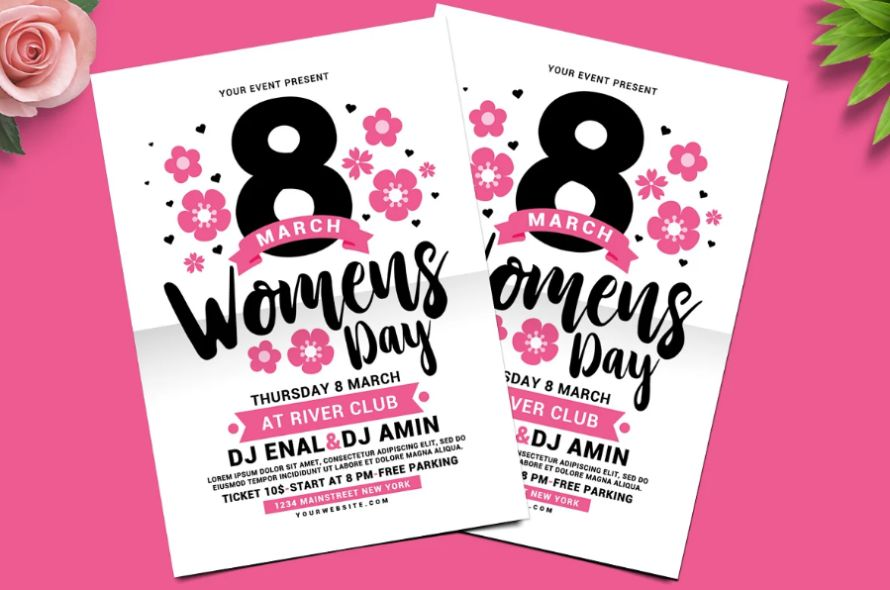 Minimal Women's day Flyer