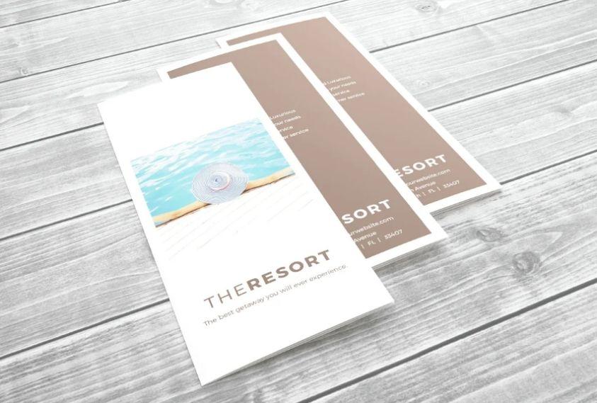 Minimal tri Fold Brochure Design