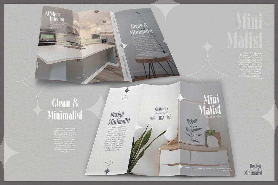 Minimalistic InDesign Brochure Templates